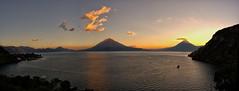 Pano Atitlan (neritron) Tags: sunset lake water lago agua nikon guatemala pano atitlan panoramica d750 ocaso