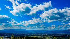 Piana di Lucca (Alessio Catelli) Tags: travel sky italy mountain mountains green nature skyline clouds montagne landscape italia nuvole fuji peak natura lucca hills adventure cielo tuscany di toscana discovery paesaggio colline piana xe1 xf1855