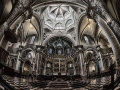 Cathedaral of Valencia (stefan.lafontaine) Tags: valencia spain europe cathedral 8 olympus fisheye mm zuiko spanien em1