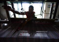 Time Consuming (www.WeAreHum.org) Tags: wood school nepal feet for women mechanical arts textile gandhi kathmandu winds weaving loom ashram tulsi threads shuttles bobbins sowing