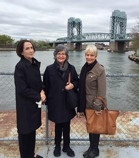 Arttable members Chris Ingalls, Liana Perez and Alette Simmons-Jimenez arriving to Frieze New York