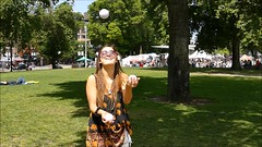Juggling - Slow Motion Video (swong95765) Tags: park woman lady female pretty awesome talent practice juggling juggle talented skill coordination