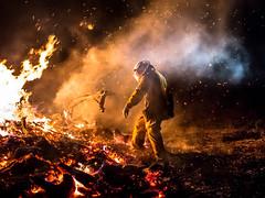 RFB Burn off (robkolo666) Tags: rural creek fire cobble fireman service burnoff bushland samsonvale rfb bigade