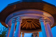 0011 (mikikkkeee) Tags: roof light sky color canon evening wooden pillar column