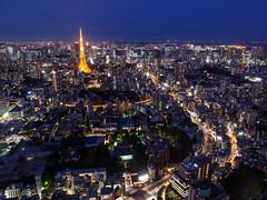Tokyo (wymi_90) Tags: tokyo city cityscape lights japan nippon skyline landscape raw long exposure outdoor travel reisen roppongi lichter stadt nacht urban olympus architecture architektur skyscraper hochhaus tokyotower