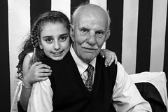 Today, Tomorrow and Forever (emmemme1964) Tags: blackandwhite girl grandfather nonno biancoenero ragazza