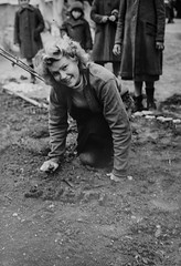 A Polish girl in a refugee camp in Terhan landscapes the patch of earth in front of her tent in 1943 [1200x1757] #HistoryPorn #history #retro http://ift.tt/1saztCF (Histolines) Tags: camp history girl landscapes earth refugee polish front tent her retro timeline patch 1943 vinatage terhan a historyporn histolines 1200x1757 httpifttt1saztcf
