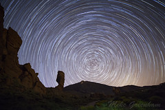 Mount Teide Star Trail (Mike_Greenham) Tags: star space trail galaxy astrophotography tenerife astronomy universe teide polaris startrail
