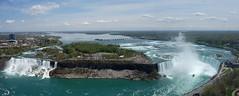 Niagara falls from above (Westhamwolf) Tags: mist lake ontario canada water waterfall eerie niagara falls maid hornblower