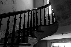 Abandoned Mansion: Staircase (Robert Jack Images) Tags: blackandwhite abandoned blackwhite staircase bnw urbanexploring urbexing