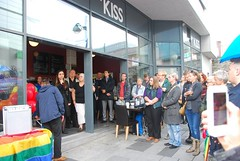 "Plymouth Stands with Orlando Vigil outside Cafe Kiss • <a style=""font-size:0.8em;"" href=""http://www.flickr.com/photos/66700933@N06/27142624703/"" target=""_blank"">View on Flickr</a>"