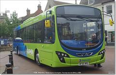 Stagecoach Volvo B8RLE 21305, Market Square, Huntingdon, June 2nd 2016. (Bristol RE) Tags: volvo wright stagecoach marketsquare huntingdon 21305 stagecoacheast b8rle bf65wku
