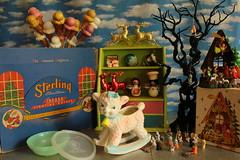 The bonanza included a few holiday items (raining rita) Tags: christmas halloween lamb nativity icecreamcones