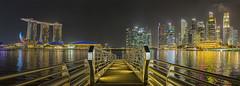 Marina bay sand (melnikor) Tags: city bridge light water night marina bay sand land scape leehuaming
