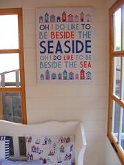 My Beach Hut Style Summerhouse! (**Cupcake Boutique**) Tags: beach garden bench seaside beachhut nautical summerhouse ohidoliketobebesidetheseaside storagebench shabbychicbench dutchsettlebench beachhutcushion seasidecushion beachhutcanvas