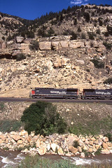 Southern Pacific AC4400CW #272 at Price Canyon Utah on 7-14-96 (LE_Irvin) Tags: southernpacific ac4400cw pricecanyonut