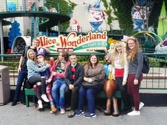 My birthday in Blackpool pleasure beach (Elysia in Wonderland) Tags: birthday park white rabbit beach june bench march becca lucy hare ride amy alice clinton pete theme shaun date mad wonderland blackpool 24th pleasure 20th hatter elysia 2016