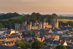 'Town Walls' - Caernarfon Castle (Kristofer Williams) Tags: city houses sunset urban sunlight castle wales landscape evening town walls defences caernarfon northwales caernarfoncastle