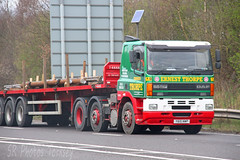 DAF 85CF Ernest Thorpe Y615 NWP (SR Photos Torksey) Tags: road truck transport lorry commercial thorpe vehicle ernest freight cf logistics daf haulage hgv lgv