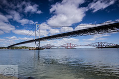 The Forth Road and Rail Bridges (Created Eye Photography) Tags: road port river scotland edinburgh europe south rail forth edgar queensferry panoriamic