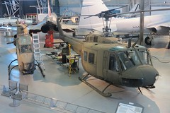 Sikorsky UH-34 Seahorse & Bell UH-1H Iroquois (Little Chubby Panda) Tags: museum smithsonian seahorse aircraft huey helicopter helicopters airandspacemuseum udvarhazy iroquois nasm uh1h uh34