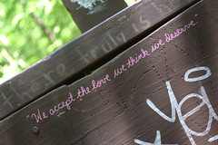 What Do You Think (MTSOfan) Tags: love observation graffiti quote philosophy marker quotation deserve humancondition doodlebridge acceptinglove