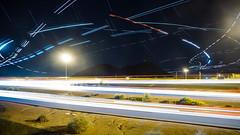 Light wars (DoubleIris) Tags: longexposure travel love speed plane fun happy lights amazing highway war sony awesome joy awe lightspeed sonyalpha sonyimages lightwar sonya6000
