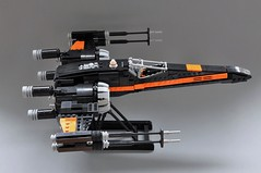 Poes T-70 X wing (4) (Inthert) Tags: black one star fighter ship force lego xwing wars poe resistance moc t70 awakens dameron bb8