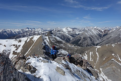 Mount Fable - scrambling along the ridge (*Andrea B) Tags: canada mountains rockies spring hiking rocky canadian hike mount april rockymountains fable scramble exshaw 2016 mountfable april2016