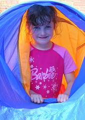 Olivia - A Step Back in Time! (janroles) Tags: blue summer portrait england orange girl female child outdoor playtime