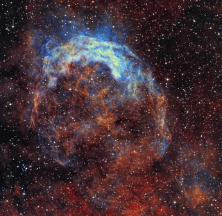 NGC3199, the Smile Nebula in narrowband