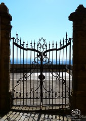 door of mediterranean sea (frens_deby) Tags: sea art church nikon gate iron mediterranean mediterraneo mare arte lock culture chiesa cultura salerno cancello ferro d610 lucchetto centrostorio altavillasilentina 24120f4 historiographiccenter