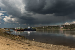Tutayev, Russia (misus1504 (Elena)) Tags: morning travel light sky mist color reflection water weather canon river dark landscape spring day russia outdoor mark may land orthodox volga goldenring