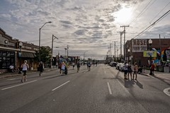 Close to the End (brev99) Tags: street people sun clouds race downtown finish runners tulsa racers colorefex d7100 bradyartsdistrict ononesoftware sigma1770os cacorrection dxooptics8 perfecteffects10 perfectenhance10