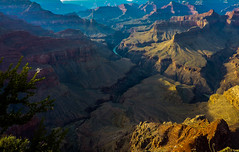 Mid afternoon sun hits the Grand Canyon (dmunro100) Tags: autumn arizona scale afternoon grandcanyon scenic large coloradoriver magical breathtaking southrim
