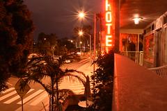 Santa Monica (jaffa600) Tags: california usa building beach buildings hotel pier losangeles unitedstates santamonica unitedstatesofamerica motionblur