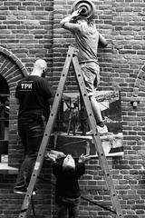 Fotofestival 2016 in Lodz. (Tomasz Aulich) Tags: street travel urban white man black brick window nikon picture poland ladder łódź fotofestival streetfoto nationalgeografic artinkubator fotofestival2016