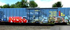 kushe - (timetomakethepasta) Tags: kush kushe sts vrs plant trees um amc paint louis d2f freight train graffiti golden west service boxcar sp southern pacific