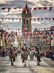 Riding the Marches (Scotty Rae) Tags: summer horses church festival scotland parade riding peebles commonriding cornet scottishborders peeblesshire peeblesbeltanefestival2016