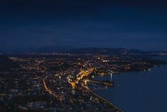 Cityscape of Bregenz | Lake of Constance (photography.MN) Tags: blue sunset orange lake reflection water clouds sunrise germany landscape lights austria switzerland cityscape sundown outdoor lindau bregenz architectural architect constance lochau aust swit