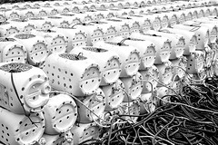 Bad day to be a lobster (hedphoto) Tags: lobster lobsterpots lobstertraps containers plastic old recycled