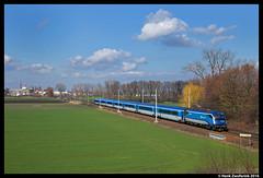 D Railjet 1216 234, Nov Ves I 04-03-2016 (Henk Zwoferink) Tags: cd siemens taurus bb ves obb tsjechi 1216 d i nov railjet es64u4 middenbohemen novvesi