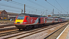 43057 43257 (JOHN BRACE) Tags: from car station power bobo virgin crewe when re 1977 2008 seen built intercity numbered 125 doncaster livery brel engined 43057 43257 renumbered