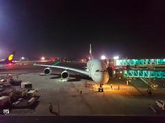 EK501 Mumbai- Dubai Emirates A380 night flight (akshaypatil  photography) Tags: 2 night dubai flight terminal emirates a380 bom mumbai t2 dxb terminal2 ek501