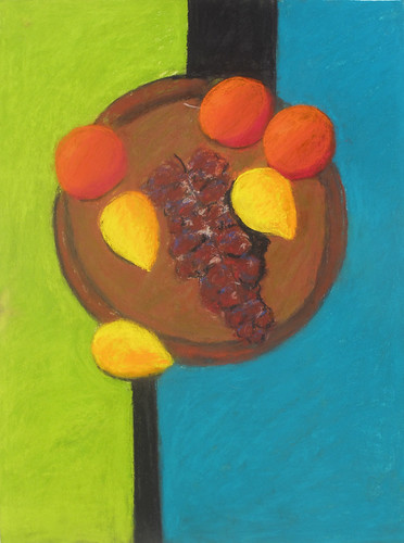 "Oranges, Lemons and Grapes - pastel on paper 22"" x 30"" $1100"
