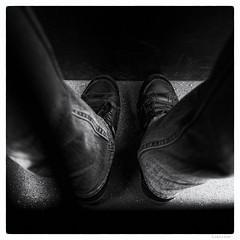 171/366 black white day (tideloon) Tags: entwicklung 16mm fujinonxf16mmf14rwr 2016 june blackandwhite blackwhiteday 366the2016edition 3662016 366dayproject fujifilm fujifilmxe2 bus trousers jeans shoes