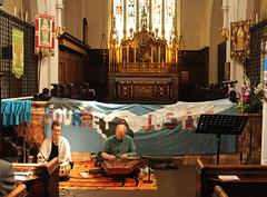 Josie Canham-Williams (tabla) & John Ball (santoor), performers