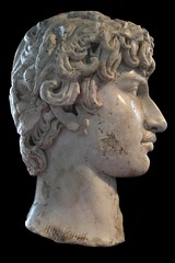 Ancient Rome. Marble Portrait of Antinous (Bithinia, nowadays Turkey, 110/115 - 130), Emperor Hadrian's lover. (mike catalonian) Tags: portrait male head marble hadrian emperor antinous ancientrome