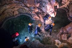 Underground and wet (europeanspaceagency) Tags: blue sardinia nasa caves operations esa humanspaceflight jaxa astronauttraining roscosmos cavenaut