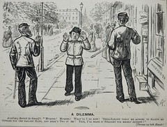 A Dilemma! - Punch 1873 (AndyBrii) Tags: woodcuts satire punch wit cartoons engravings 1873